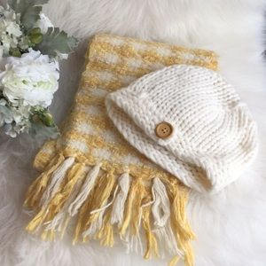 Banana Republic Cashmere Hat and Scarf Set